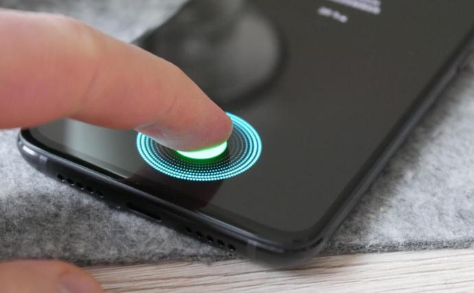 Fingerabdruck Sensor Display Header