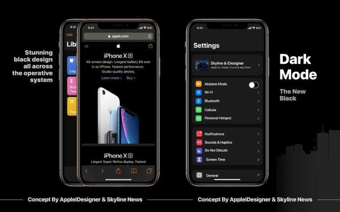Apple Ios 13 Konzept Dark Mode