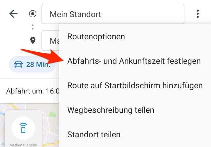 Google Maps Abfahrt Ankunft Zeit