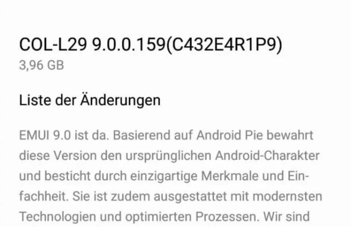 Honor 10 Android 9 Pie