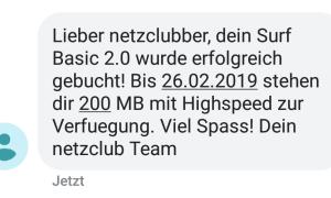 Netzclub Sms