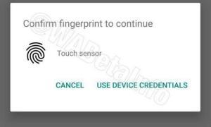 Whatsapp Fingerabdruck