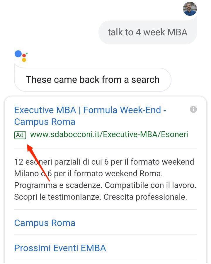 Google Assistant Werbung