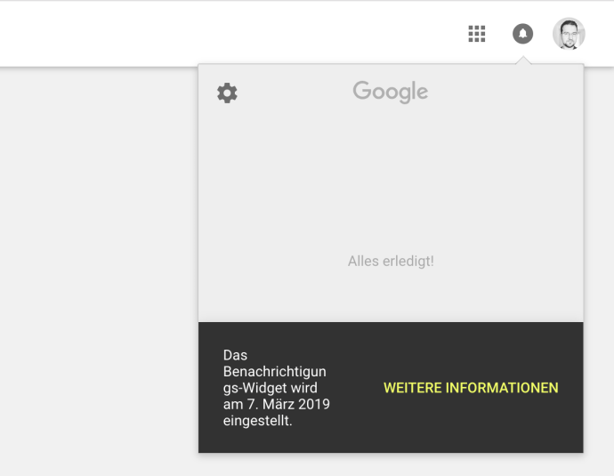 Google Benachrichtigungs Widget