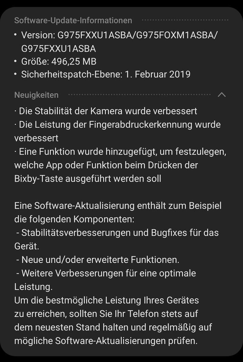 S10 Firmware Update