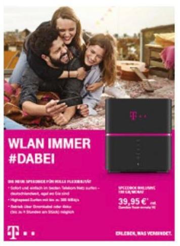 Telekom Speedbox Screen