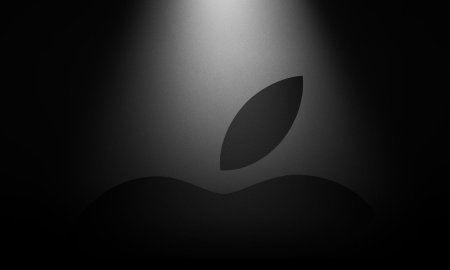 Apple Logo Dark Header