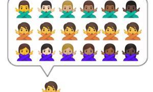 Google Emoji Geschlech Neutral Mockup