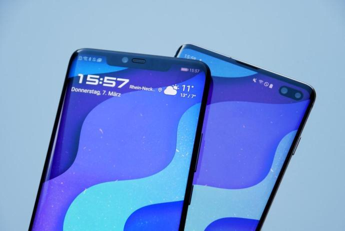 Huawei Mate 20 Pro Samsung Galaxy S10 Header