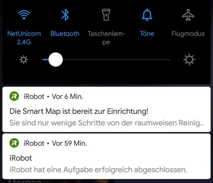 Irobot Roomba I7 Benachrichtigungen