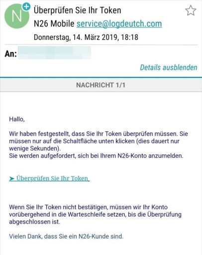 N26 Mail Fake