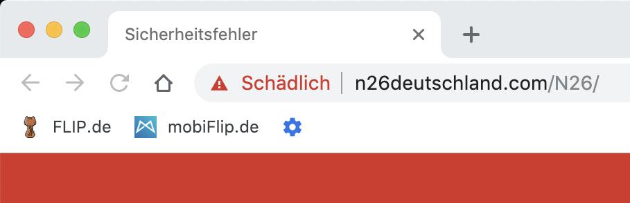N26 Url Schaedlich