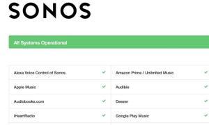 Status Sonos