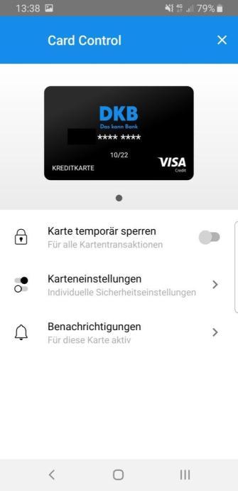 Dkb Visa Card Control 1