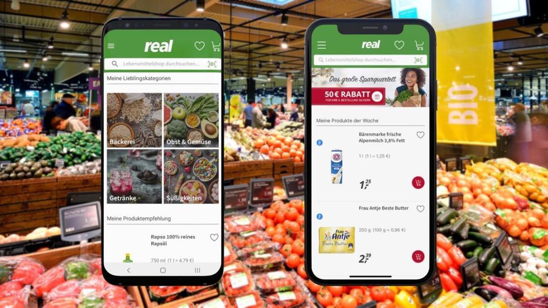 Real App Lebensmittelshop