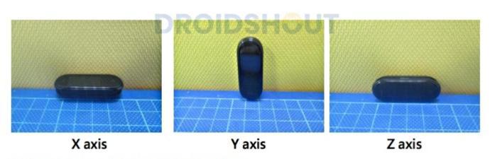 Xiaomi Mi Band 4 Leak Achsen