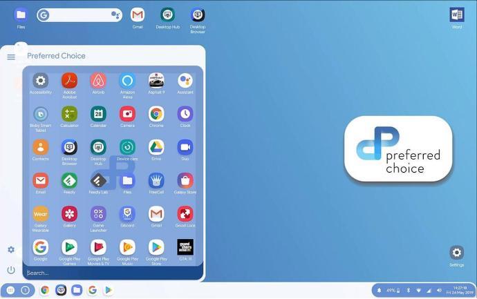 Android Q Desktop Modus Launcher