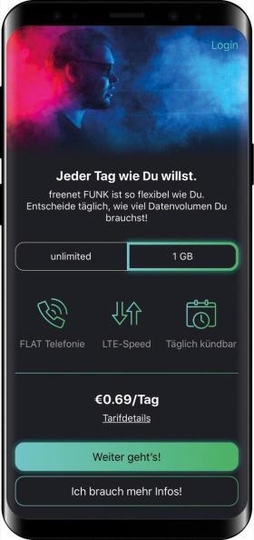 Freenet Funk Appscreen