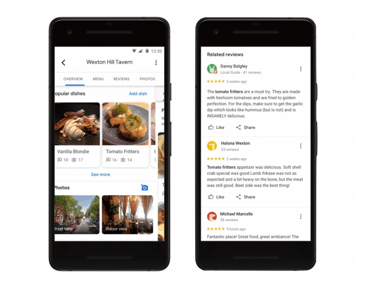 Google Maps Speisen Tipps
