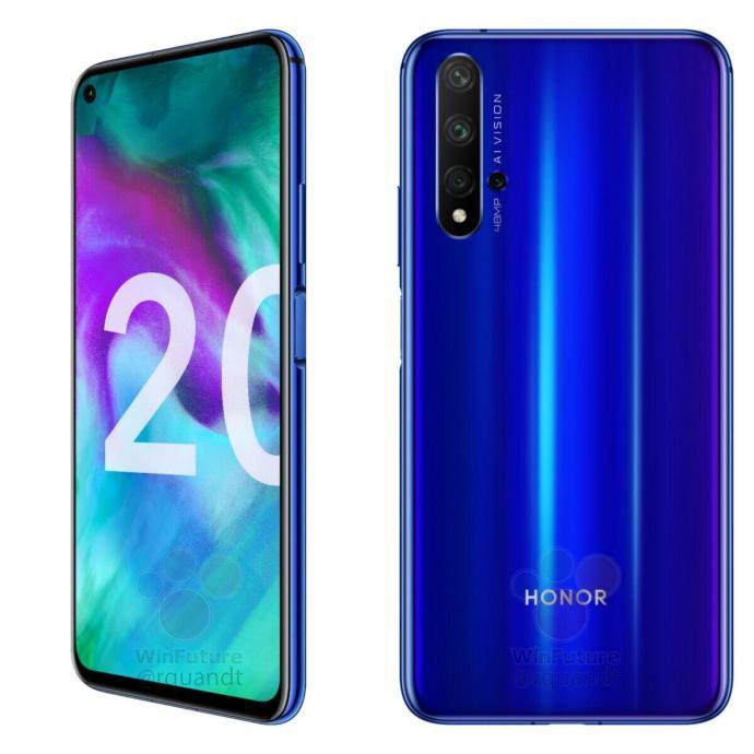 Honor 20 Blau Leak