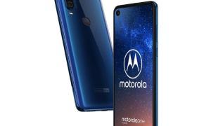 Motorola One Vision Leak Blau