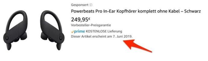 Powerbeats Pro Datum Amazon