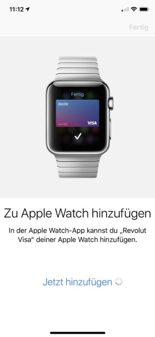 Revolut Visa Apple Pay Watch