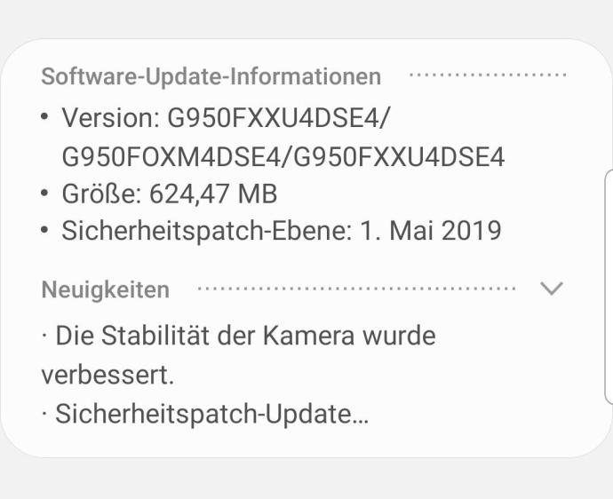 S8 Mai Update