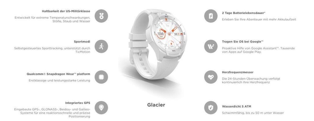 Ticwatch S2 Weiss