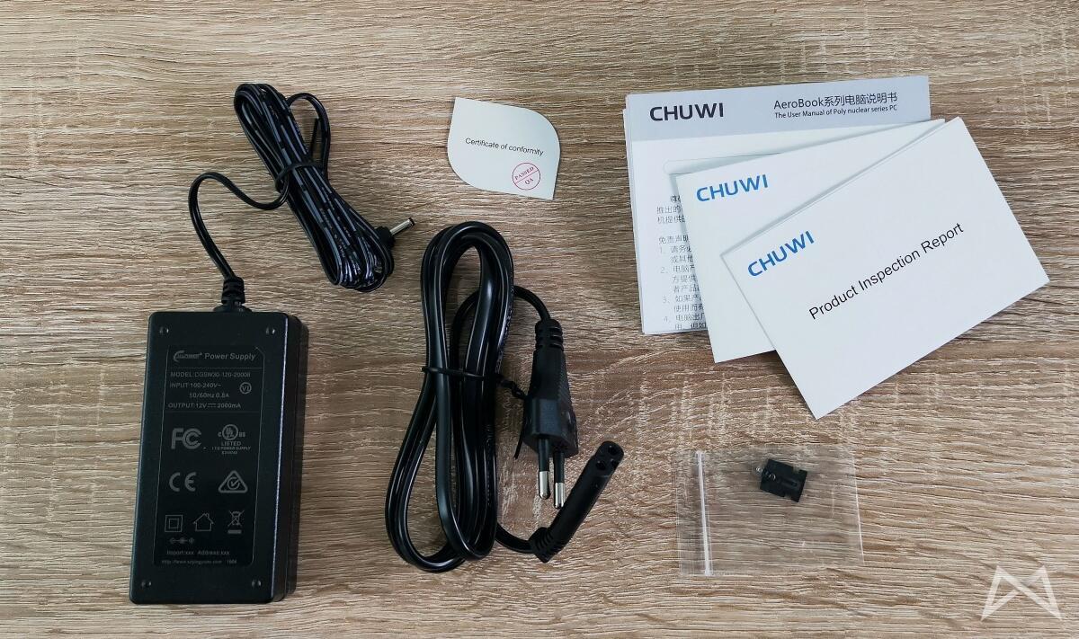 Chuwi Aerobook Lieferumfang