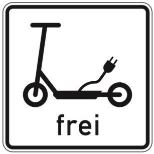 Elektrokleinstfahrzeuge Frei Schild