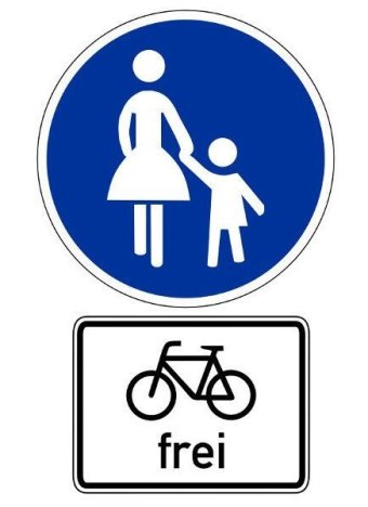 Gehweg Fahrrad Frei