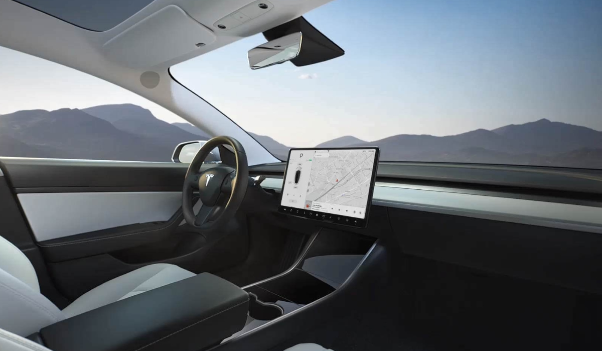 Tesla Model 3 Dispaly Header