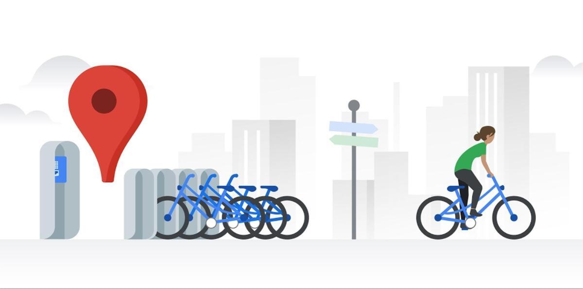 Google Maps Bikesharing
