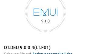 Huawei P20 Emui 9.1 Update