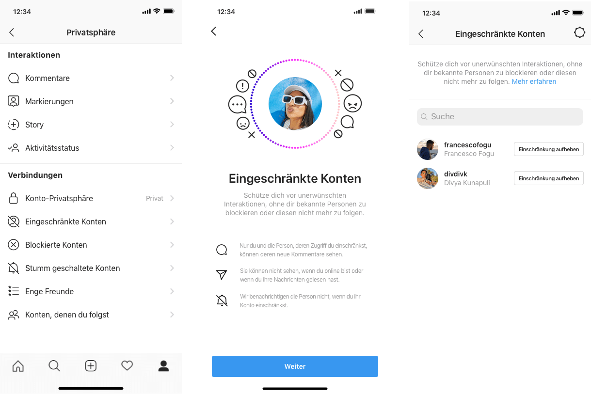 Instagram Restricted Account