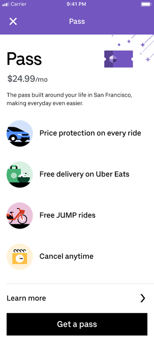 Uber Pass Screenshot