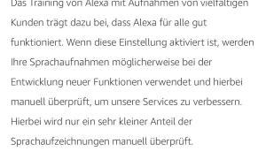 Amazon Alexa Datenschutz