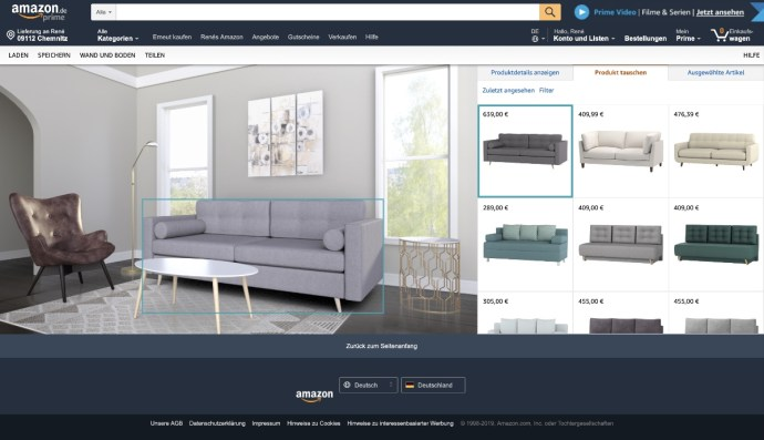 Amazon Showroom Moebel