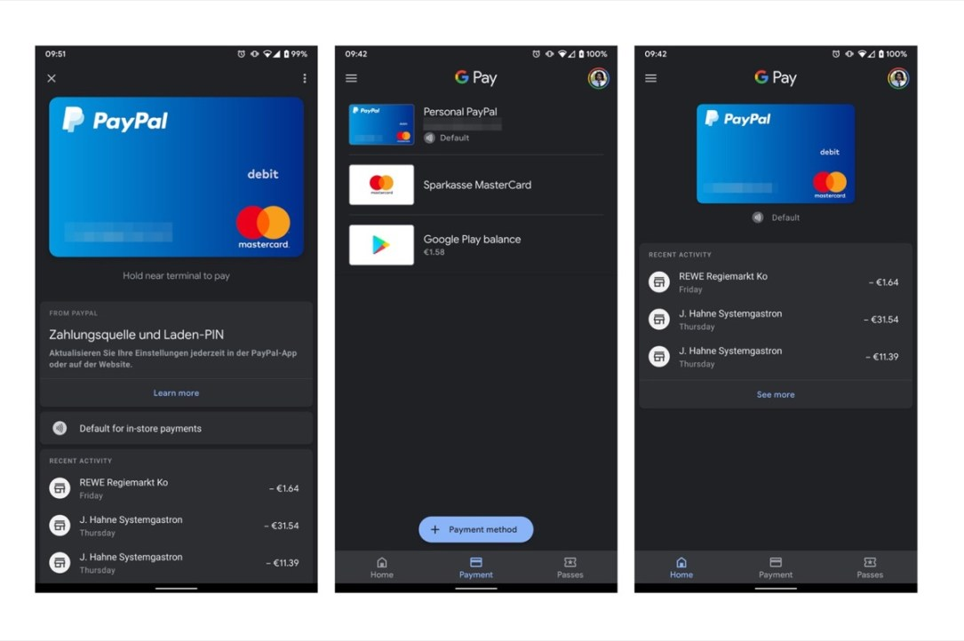 Google Pay Dark Mode
