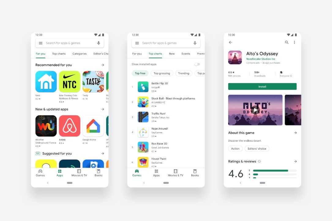 Google Play Store Header
