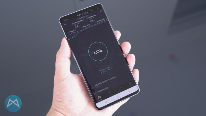 LTE Speedtest mit dem Galaxy S10 5G.
