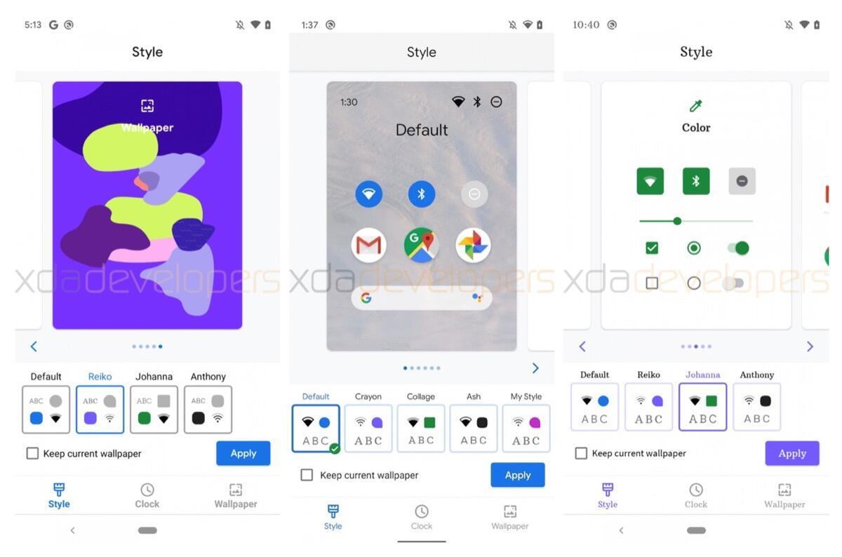 Google Pixel 4 Leak Themes