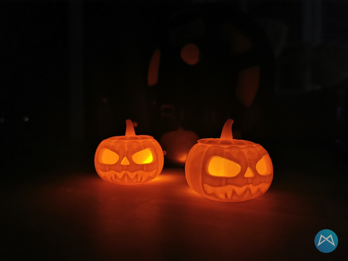 Halloween Pumpkin At Night Printfluencer Ortur 4 V1 Test
