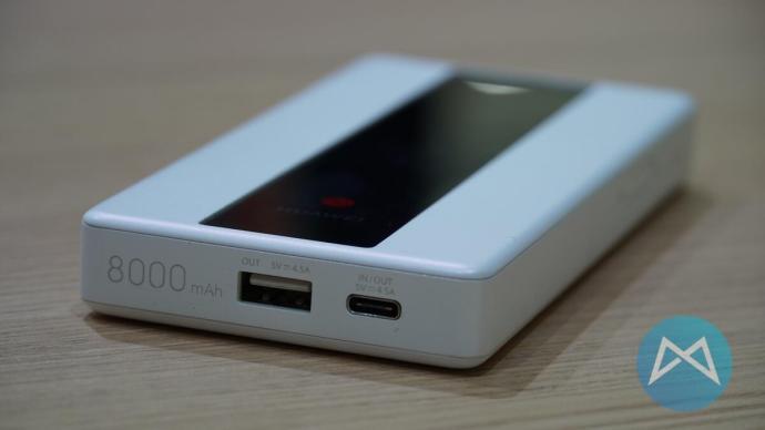 Anschlüsse beim Huawei E6878.