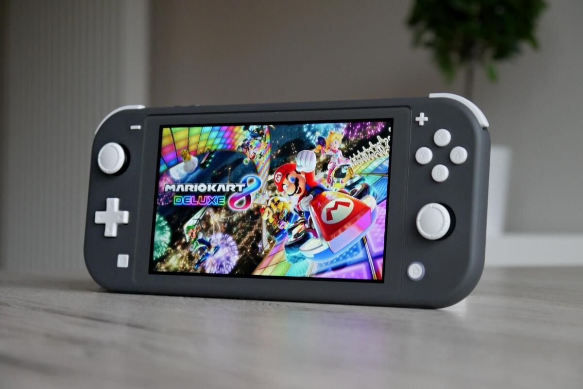 Nintendo Switch Lite Mario Kart Header