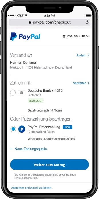 Paypal Ratenzahlung 1
