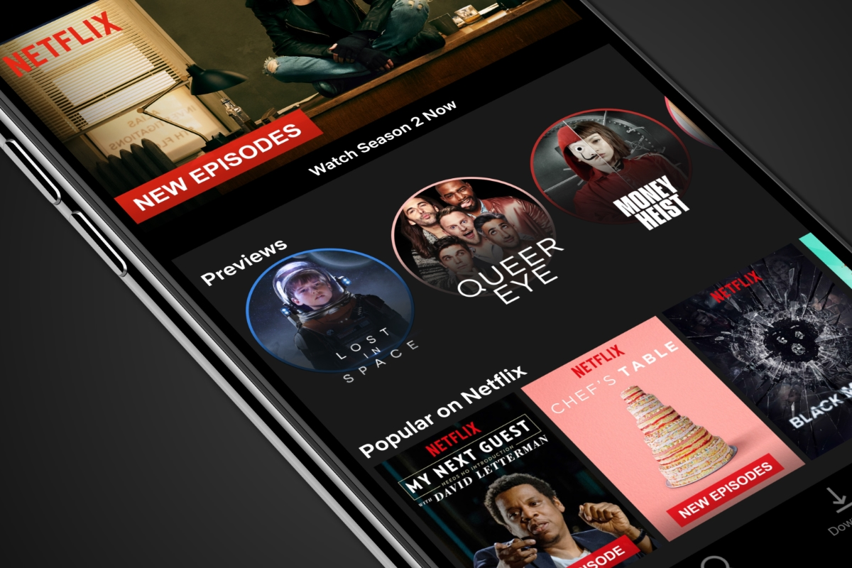 Netflix App Header