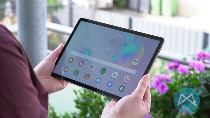 Samsung Galaxy Tab S6 Homescreen