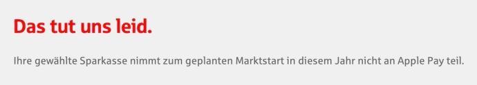 Apple Pay Sparkasse Hinweis